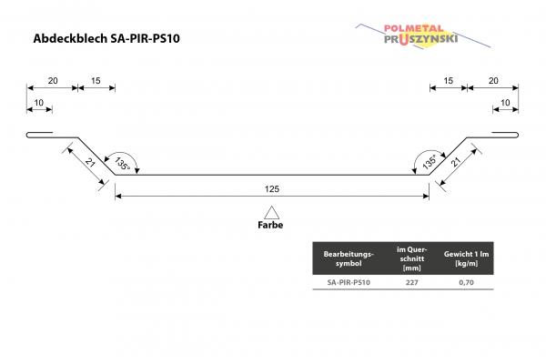 Abdeckblech SA-PIR-PS10