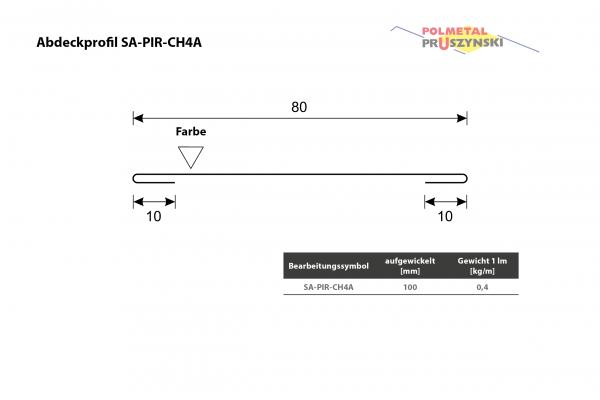 Abdeckprofil SA-PIR-CH4A