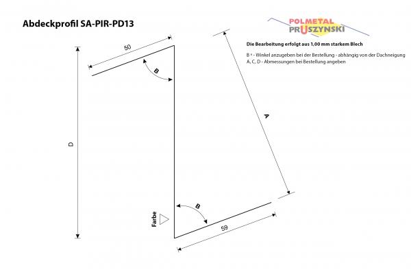 Abdeckprofil SA-PIR-PD13
