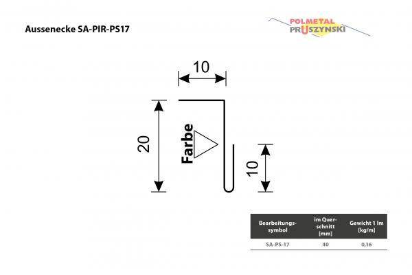 Außenecke SA-PIR-PS17