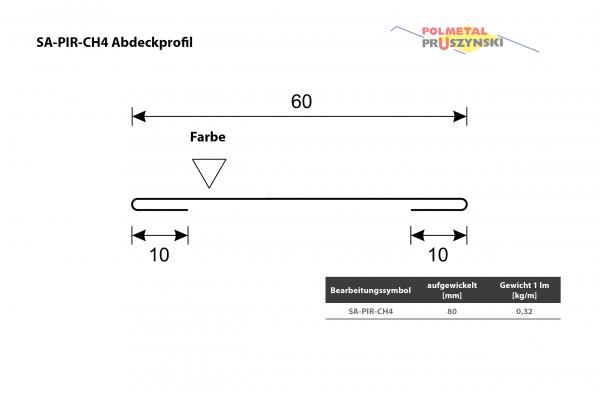 Abdeckprofil SA-PIR-CH4