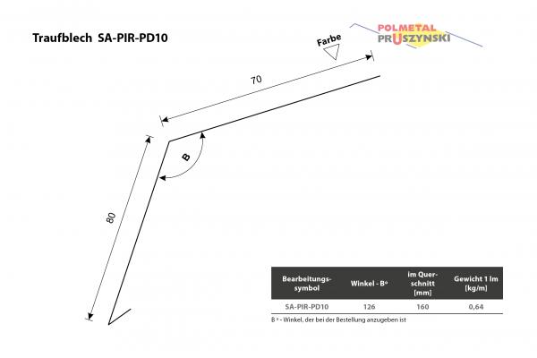 Traufblech SA-PIR-PD10