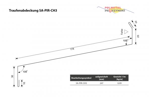 Traufenabdeckung SA-PIR-CH3