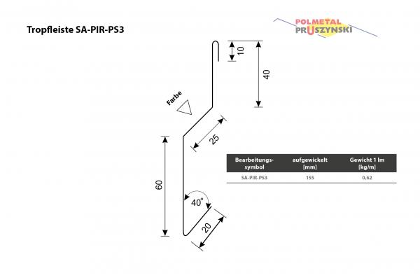 Tropfleiste SA-PIR-PS3