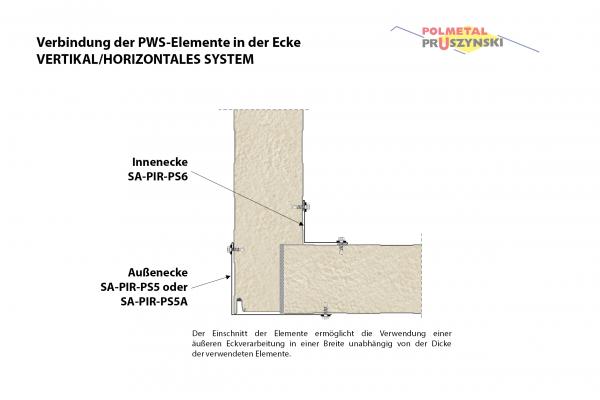 Außenecke SA-PIR-PS5A