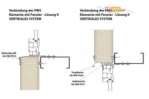 Fensterverarbeitung Abdeckprofil SA-PIR-PS15