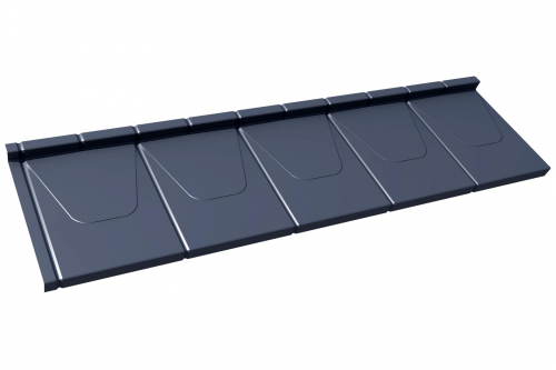 M25 Musterblech Paneel Dachpfannenprofil 1,2 Module Länge Gesamtbreite PURLAK/PURMAT RAL7016