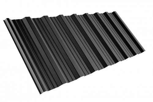 M24 Musterblech Trapezblech 50cm Länge Gesamtbreite PURLAK RAL7016
