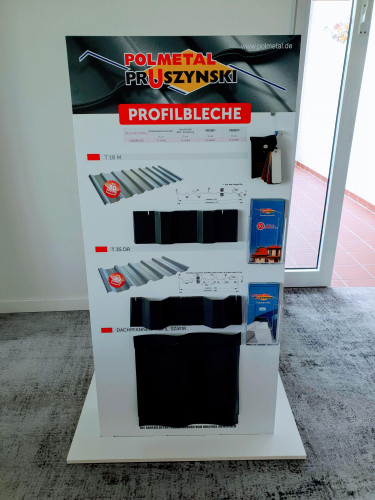M23 Mustertafel Aluminiumverbund-Platte + Holz 142x73x12cm 18kg