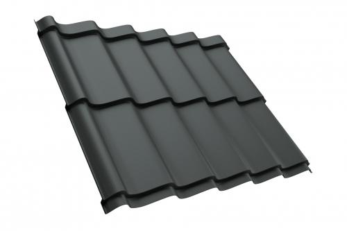 M25 Musterblech Dachpfannenprofil 50cm Länge Gesamtbreite - PURLAK RAL7016