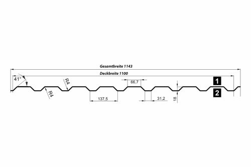 Wandprofil T20M-Wand-Querschnitt